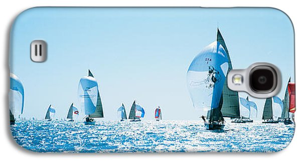 Sailboat Images Galaxy S4 Cases - Sailboat Race, Key West Florida, Usa Galaxy S4 Case by Panoramic Images