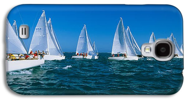 Sailboat Images Galaxy S4 Cases - Sailboat Racing In The Ocean, Key West Galaxy S4 Case by Panoramic Images