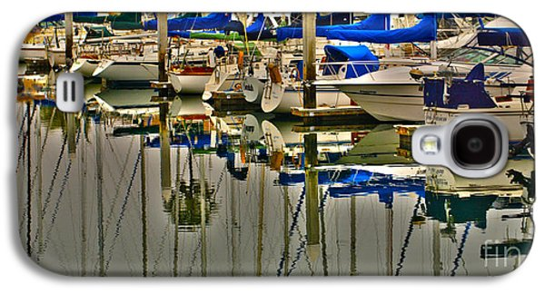 Docked Sailboats Galaxy S4 Cases - Sailboat Reflections Galaxy S4 Case by Cheryl Young