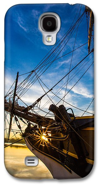 Tall Ship Galaxy S4 Cases - Sailboat Sunrise Galaxy S4 Case by Robert Bynum