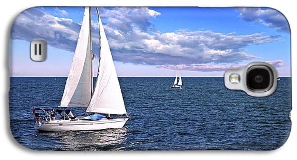 Nature Photographs Galaxy S4 Cases - Sailboats at sea Galaxy S4 Case by Elena Elisseeva