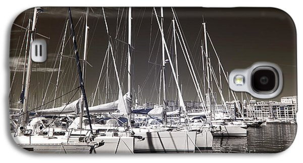 Docked Sailboat Galaxy S4 Cases - Sailboats Docked Galaxy S4 Case by John Rizzuto