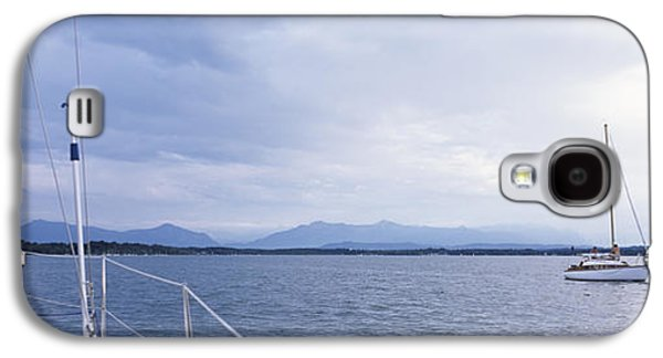 Sailboat Images Galaxy S4 Cases - Sailboats In A Lake, Lake Starnberg Galaxy S4 Case by Panoramic Images