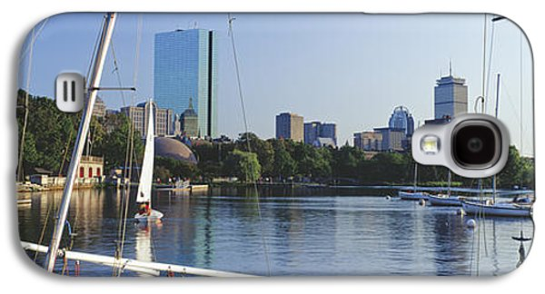 Sailboat Images Galaxy S4 Cases - Sailboats In A River With City Galaxy S4 Case by Panoramic Images