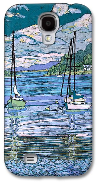 Transportation Tapestries - Textiles Galaxy S4 Cases - Sailboats In Harbor  Galaxy S4 Case by Terri Haugen