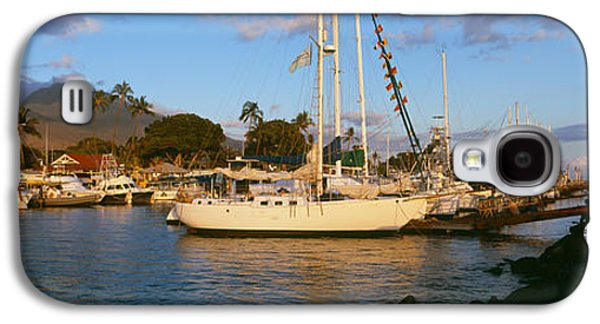 Sailboat Images Galaxy S4 Cases - Sailboats In The Bay, Lahaina Harbor Galaxy S4 Case by Panoramic Images