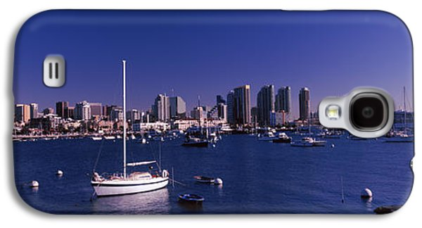 Sailboat Images Galaxy S4 Cases - Sailboats In The Bay, San Diego Galaxy S4 Case by Panoramic Images