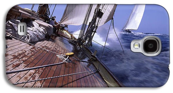 Sailboat Images Galaxy S4 Cases - Sailboats In The Sea, Antigua, Antigua Galaxy S4 Case by Panoramic Images
