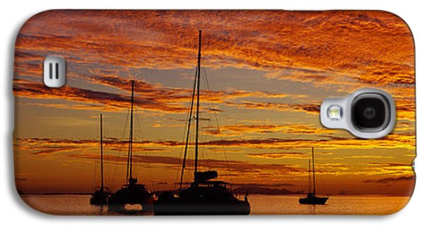 Sailboats In Water Galaxy S4 Cases - Sailboats In The Sea, Tahiti, French Galaxy S4 Case by Panoramic Images