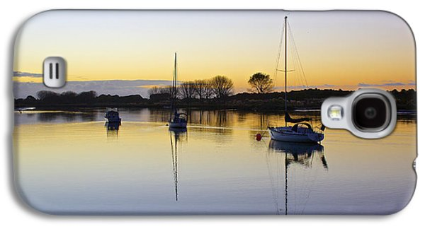 Transportation Photographs Galaxy S4 Cases - Sailboats in Whakatane at Sunset Galaxy S4 Case by Venetia Featherstone-Witty