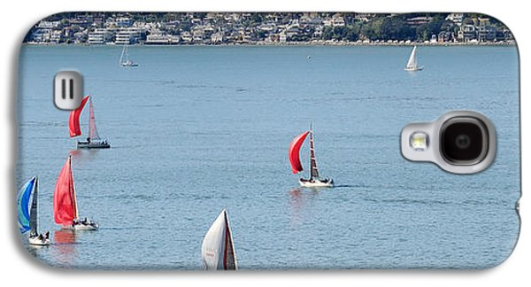 Sausalito Galaxy S4 Cases - Sailboats On San Francisco Bay Galaxy S4 Case by Panoramic Images