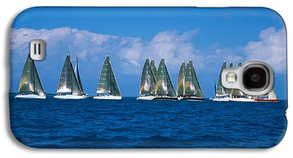 Sailboat Images Galaxy S4 Cases - Sailboats Racing In The Sea, Farr 40s Galaxy S4 Case by Panoramic Images