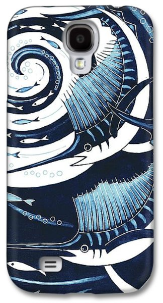 Printmaking Galaxy S4 Cases - Sailfish, 2013 Woodcut Galaxy S4 Case by Nat Morley