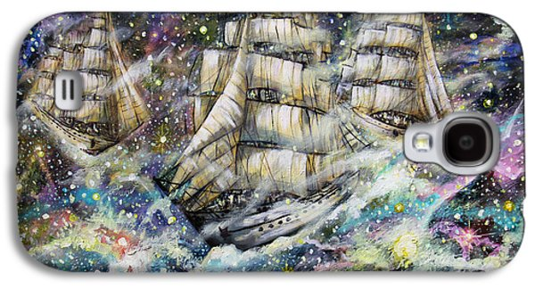 Constellations Paintings Galaxy S4 Cases - Sailing Among The Stars Galaxy S4 Case by Dariusz Orszulik