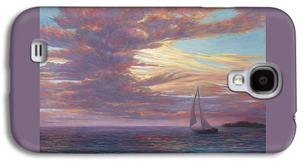 Clouds Paintings Galaxy S4 Cases - Sailing Away Galaxy S4 Case by Lucie Bilodeau