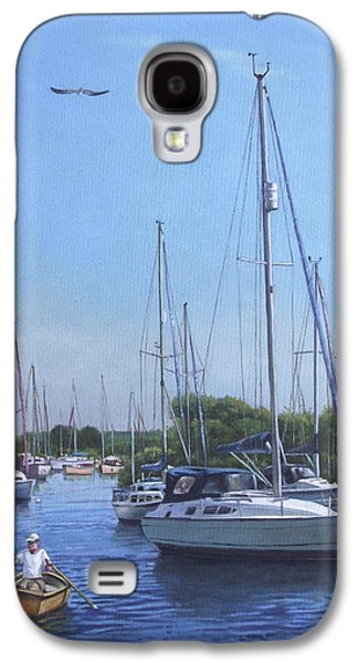 Boats In Harbor Galaxy S4 Cases - Sailing Boats At Christchurch Harbour Galaxy S4 Case by Martin Davey