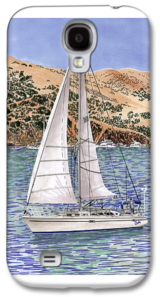 Sailboats In Harbor Galaxy S4 Cases - Sailing Catalina Island Sailing Sunday Galaxy S4 Case by Jack Pumphrey