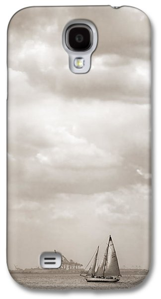 Sailboats In Harbor Galaxy S4 Cases - Sailing in New York Harbor - Nautical Galaxy S4 Case by Gary Heller