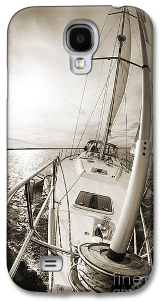 Sailing Galaxy S4 Cases - Sailing on a Beneteau 49 Sailboat Galaxy S4 Case by Dustin K Ryan