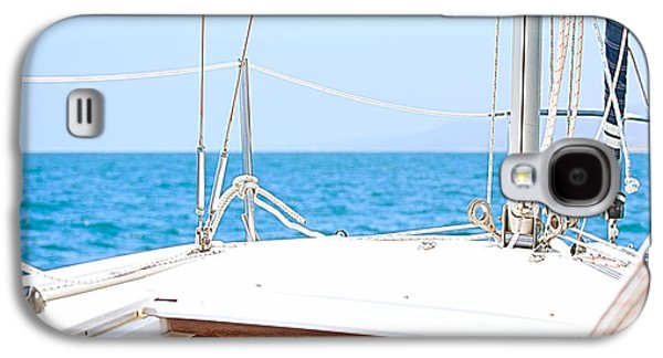Best Sailing Photos Galaxy S4 Cases - Sailing on a Fine Sunny Day Galaxy S4 Case by Artist and Photographer Laura Wrede