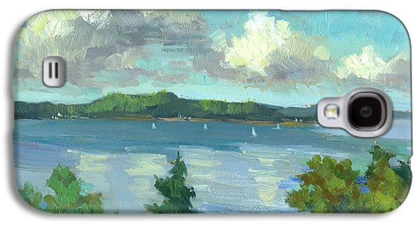 Change Paintings Galaxy S4 Cases - Sailing on Puget Sound Galaxy S4 Case by Diane McClary