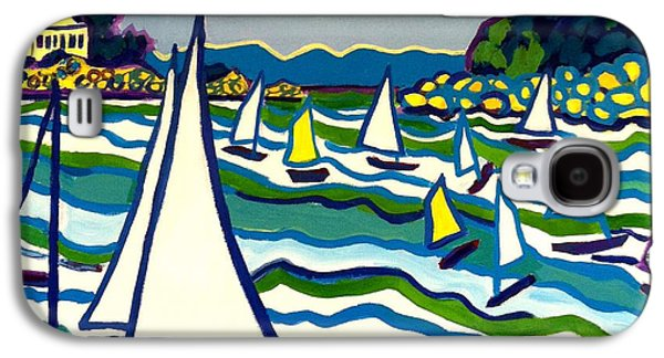 Mansion By The Ocean Galaxy S4 Cases - Sailing School Manchester by-the-sea Galaxy S4 Case by Debra Bretton Robinson