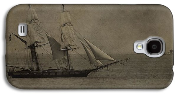 Boaters Galaxy S4 Cases - Sailing Ship And Round Island Light Galaxy S4 Case by Dan Sproul