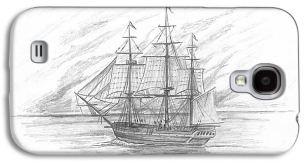 Recently Sold -  - Enterprise Galaxy S4 Cases - Sailing Ship Enterprise Galaxy S4 Case by Michael Penny