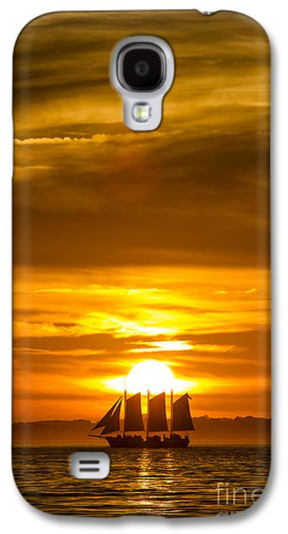 Amazing Sunset Galaxy S4 Cases - Sailing Yacht Schooner Pride Sunset Galaxy S4 Case by Dustin K Ryan