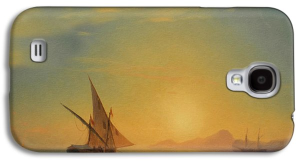 Impressionism Mixed Media Galaxy S4 Cases - Sails In The Sunset Galaxy S4 Case by Georgiana Romanovna