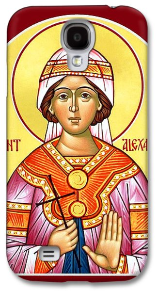 Orthodox Icon Galaxy S4 Cases - Saint Alexandra Galaxy S4 Case by Munir Alawi