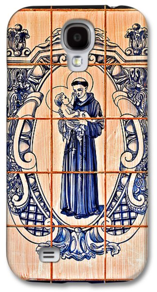 Child Jesus Galaxy S4 Cases - Saint Anthony of Padua Galaxy S4 Case by Christine Till