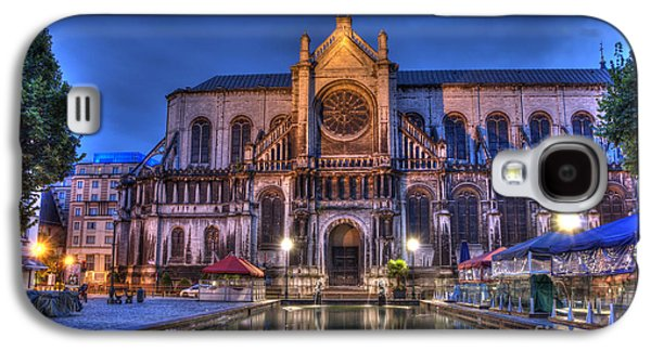 Catherine Galaxy S4 Cases - Saint Catherine Church. Brussels Galaxy S4 Case by Juli Scalzi