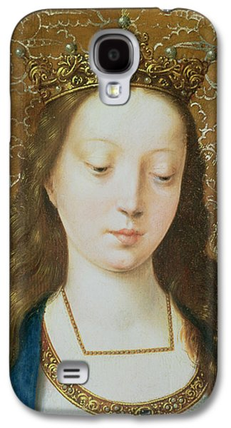 Catherine Galaxy S4 Cases - Saint Catherine Galaxy S4 Case by Goossen van der Weyden