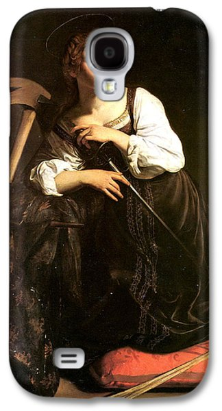 Caravaggio Galaxy S4 Cases - Saint Catherine of Alexandria Galaxy S4 Case by Caravaggio