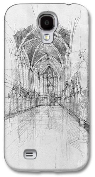 Best Sellers -  - Religious Drawings Galaxy S4 Cases - Saint Chapelle interior Galaxy S4 Case by Peut Etre