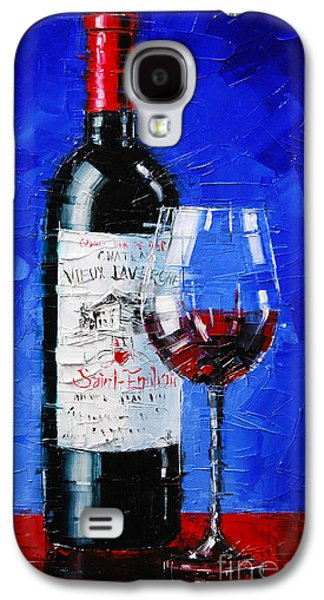 Still Life With Wine Bottle And Glass II Galaxy S4 Case by Mona Edulesco