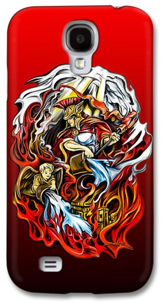 Saints Drawings Galaxy S4 Cases - Saint Florian Galaxy S4 Case by Michael Spano