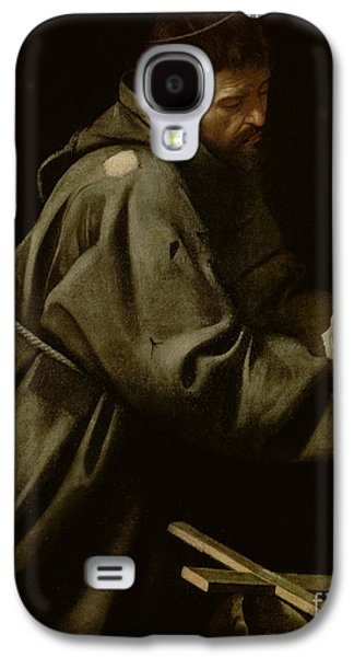Religious Galaxy S4 Cases - Saint Francis in Meditation Galaxy S4 Case by Michelangelo Merisi da Caravaggio