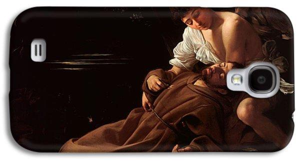 Caravaggio Galaxy S4 Cases - Saint Francis of Assisi in Ecstasy 2 Galaxy S4 Case by Caravaggio
