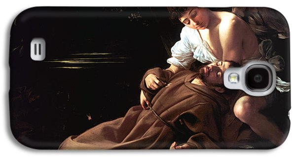 Caravaggio Galaxy S4 Cases - Saint Francis of Assisi in Ecstasy Galaxy S4 Case by Caravaggio