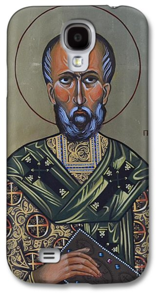 Greek Icon Paintings Galaxy S4 Cases - Saint Gregory Icon Galaxy S4 Case by Kateryna Kurylo