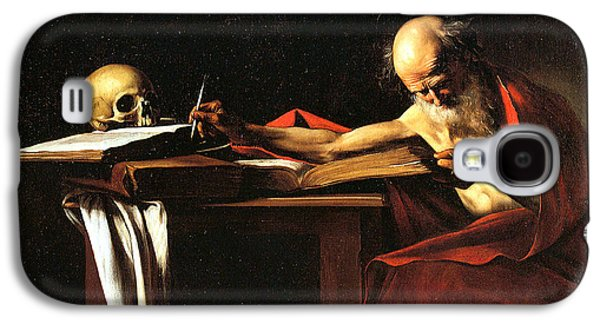 Caravaggio Galaxy S4 Cases - Saint Jerome Writing Galaxy S4 Case by Caravaggio