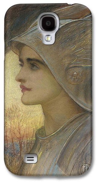 Portraits Pastels Galaxy S4 Cases - Saint Joan of Arc Galaxy S4 Case by Sir William Blake Richomond