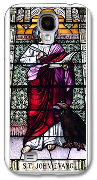 St John The Evangelist Galaxy S4 Cases - Saint John the Evangelist Stained Glass Window Galaxy S4 Case by Rose Santuci-Sofranko