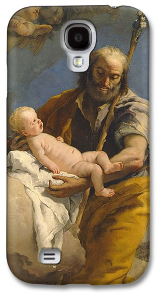 Christ Child Galaxy S4 Cases - Saint Joseph and the Christ Child Galaxy S4 Case by Giovanni Battista Tiepolo