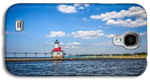 Lake House Galaxy S4 Cases - Saint Joseph Lighthouse and Pier Picture Galaxy S4 Case by Paul Velgos