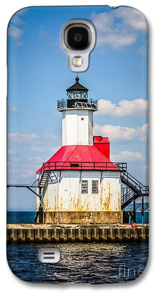 Lake House Galaxy S4 Cases - Saint Joseph Lighthouse Picture Galaxy S4 Case by Paul Velgos