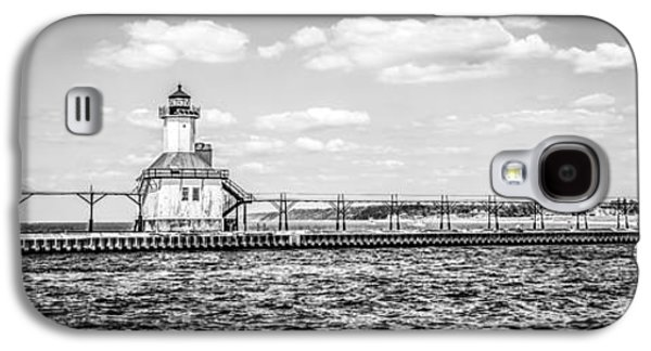 Lake House Galaxy S4 Cases - Saint Joseph Lighthouse Retro Panoramic Photo Galaxy S4 Case by Paul Velgos