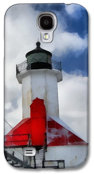 Saint Joseph Galaxy S4 Cases - Saint Joseph Michigan Lighthouse Galaxy S4 Case by Dan Sproul